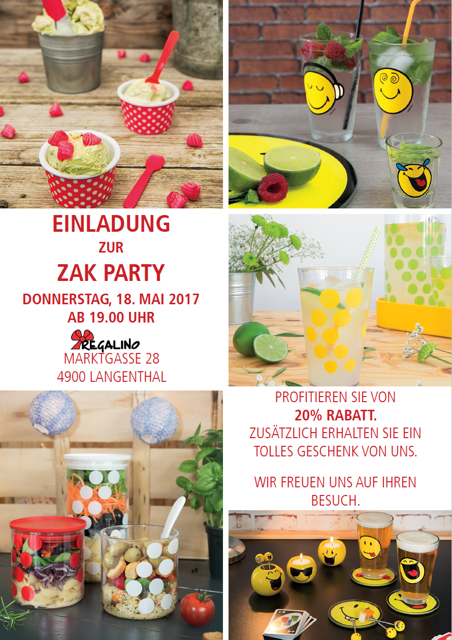 ZAK PARTY am 18.11.2017 bei Regalino AG